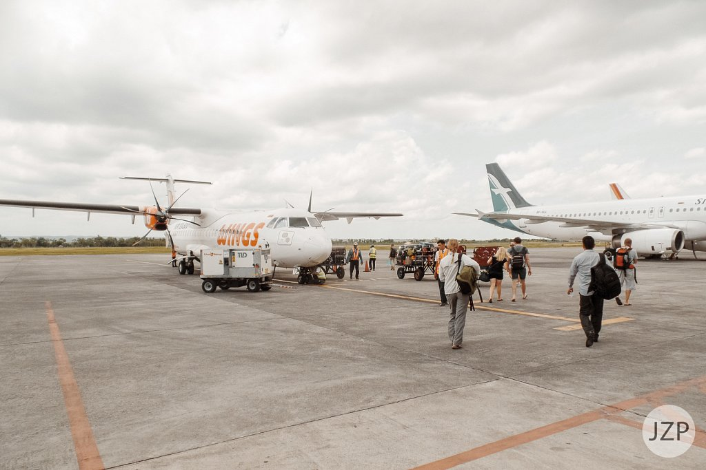 Abflug von Lombok
